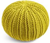 Marks and Spencer Ochre Knitted Pouffe