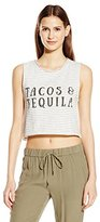 MinkPink Women's Taco's and Tequila Graphic Muscle Tank Top