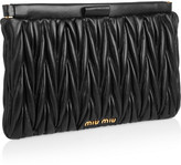 Miu Miu Matelassé leather clutch