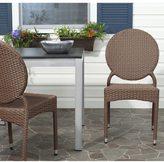 Safavieh Rural Woven Dining Valdez Brown Indoor Outdoor Stackable Side Chairs (Set of 2)