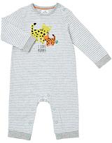 John Lewis Leopard Mummy Romper Playsuit, White