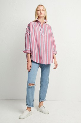 French Connection Bega Stripe Pop Over Shirt