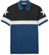 Givenchy Cuban-Fit Star-Appliquéd Colour-Block Cotton-Piqué Polo Shirt