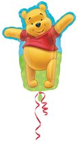 Amscan 18 Inch Disney Winnie The Pooh Adorable Pooh Shaped Foil Balloon