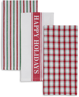 Sur La Table Happy Holidays Kitchen Towels
