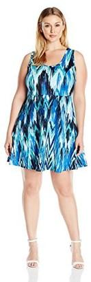 Karen Kane Women's Plus Size Fit-and-Flare Dress