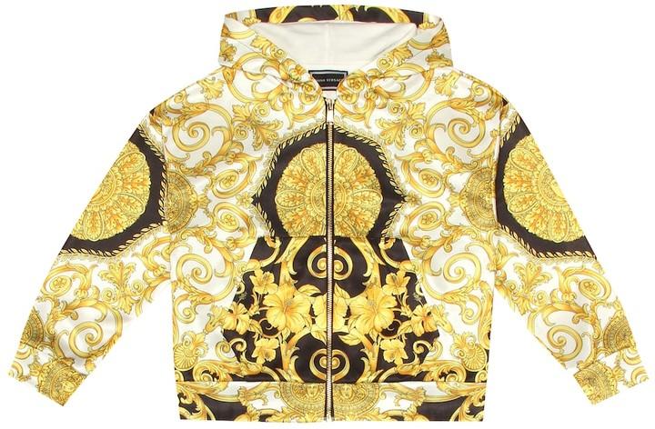 Versace Kids Printed technical hoodie