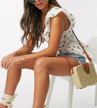 South Beach Exclusive rattan cross body bag in natural