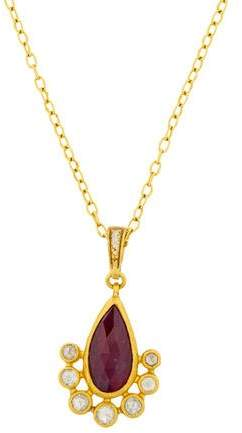 Gurhan 24K Diamond & Ruby Pendant Necklace