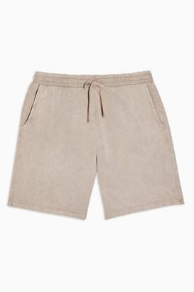 Topman Womens Beige Wash Jersey Shorts - Beige