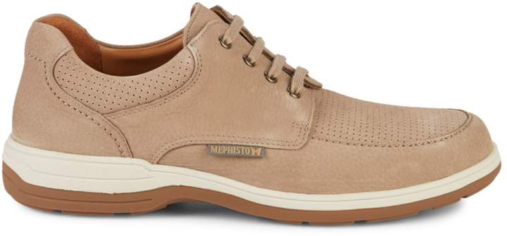Mephisto Douk Perfoated Suede Sneakers