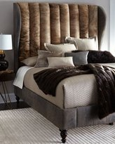 Old Hickory Tannery Jessie Queen Channel-Tufted Hairhide Bed