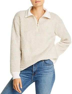 Donni Charm Sherpa Zip-Up Sweater