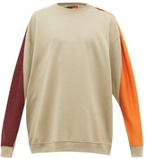 Y/Project Y/project - Colour Blocked Cotton Jersey Sweatshirt - Mens - Khaki
