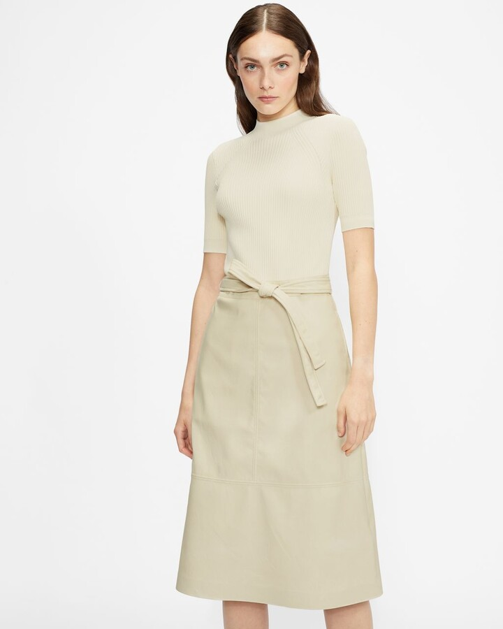 Thumbnail for your product : Ted Baker Pleather Mockable Midi Dress
