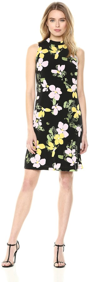 Thumbnail for your product : Nine West Women's Sleeveless Mock Neck a-line Dress