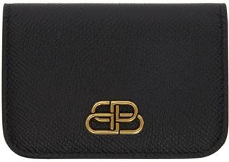 Balenciaga Black Mini BB Mono Wallet