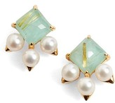 Nadri Women's Doublet & Pearl Stud Earrings