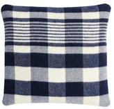 Apt2B Faribault Plaid Wool Pillow by Faribault NAVY/WHITE