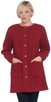 Denim & Co. Petite Sherpa Bonded with Fleece Snap Front Coat