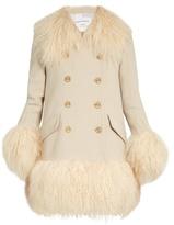 Sonia Rykiel Wool-crepe and shearling coat