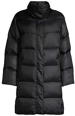 Eileen Fisher Women's Funnelneck Quilted Recycled Nylon Coat
