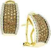 DazzlingRock Collection 1.51 Carat (ctw) 14k Yellow Gold Round White & Diamond Ladies Fashion Earrings