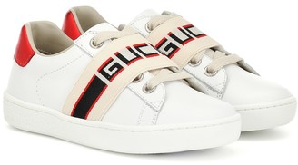 Gucci Kids Ace leather sneakers