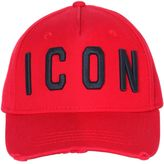 DSQUARED2 Icon Embroidered Canvas Baseball Hat