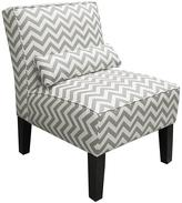 Zig Zag Armless Chair - Ash and White