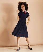 Brooks Brothers Wool-Blend Twill A-Line Dress