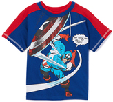 Children's Apparel Network Captain America Shield Throw Tee - Toddler