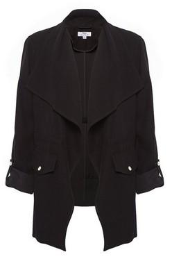 Dorothy Perkins Womens Dp Tall Black Waterfall Jacket, Black