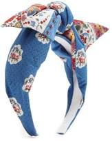 Benoit Missolin Francette floral-print cotton headband