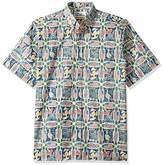 Reyn Spooner Men's Spooner Kloth Classic Fit Button Front Hawaiian Shirt Summer Commemorative