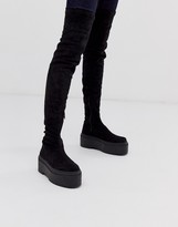 Asos Design DESIGN Katie chunky over the knee boots
