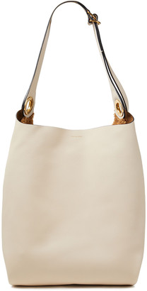 Burberry Faux Shearling-paneled Textured-leather Tote