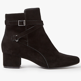 John Lewis Orla Block Heeled Ankle Boots, Black