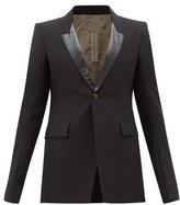Rick Owens Contrast-lapel Single-breasted Tuxedo Jacket - Mens - Black