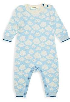 The Bonnie Mob Baby Boy's Cloud Print Knit One-Piece Coverall
