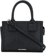 Karl Lagerfeld small logo tote - women - Cotton/Leather - One Size