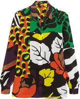 Versace Printed silk crepe de chine shirt