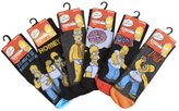 The Simpsons Mens 6 or 12 Pairs of Homer Simpson Merchandise Patterned Socks