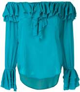 Twin-Set off shoulder ruffle blouse