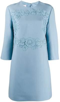 Valentino floral lace detail short dress