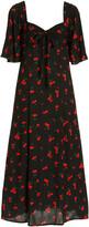 Thumbnail for your product : HVN Women's Long Emily Printed Crepe Midi Dress - Black - Moda Operandi