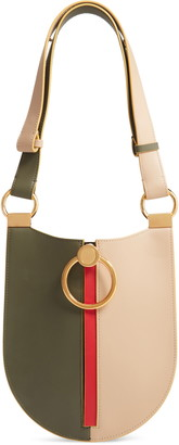 Marni Earring Colorblock Leather Shoulder Bag