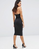 AX Paris Plunge Mid Dress With Pu Front