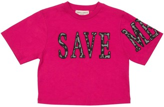 Alberta Ferretti Save Me Patch Cotton Jersey T-shirt