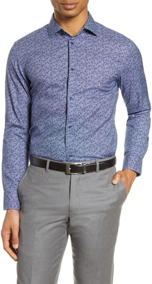 Nordstrom Extra Trim Fit Non-Iron Floral Dress Shirt